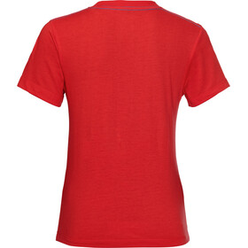 Jack Wolfskin Brand T-Shirt Garçon, peak red